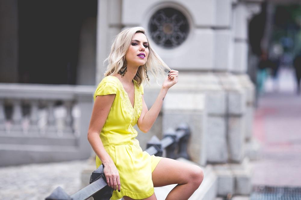 look amarelo para o verão